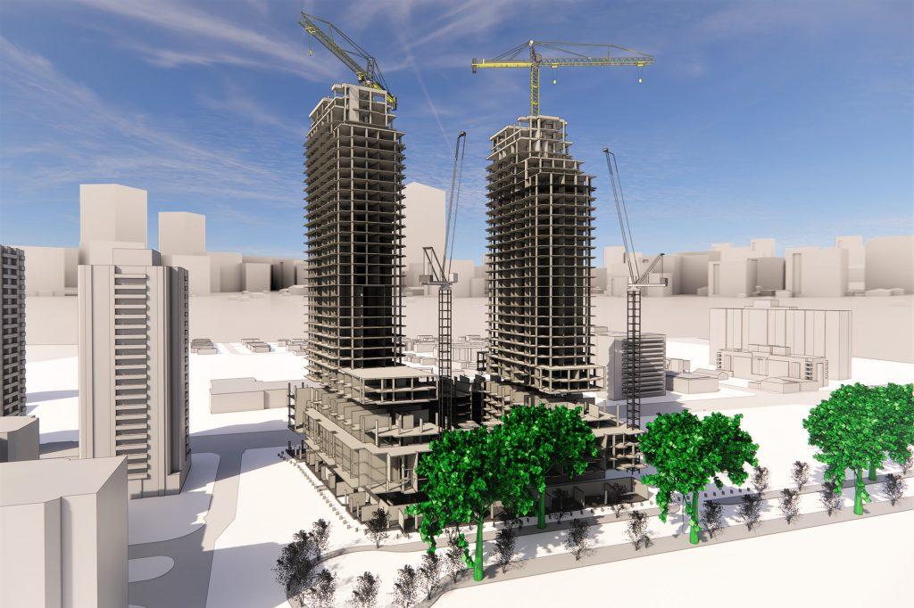Rendering of buildings
